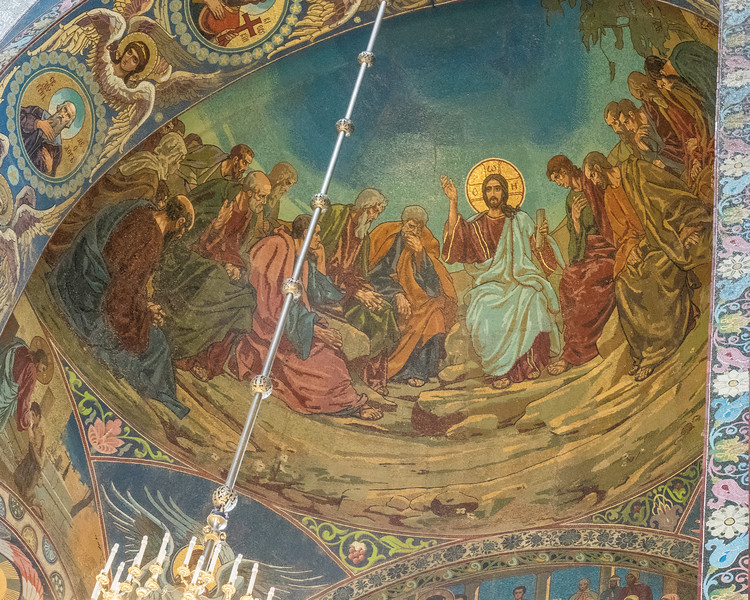 Church on Spilled Blood - Dome with Christ and his Disciples