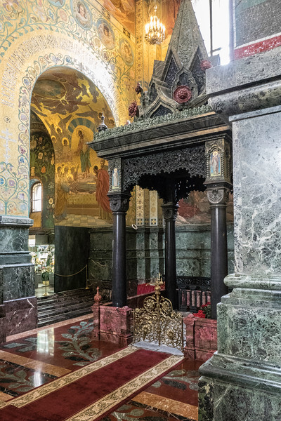 Church on Spilled Blood - Shrine over the spot where Alexander II was assasinated""