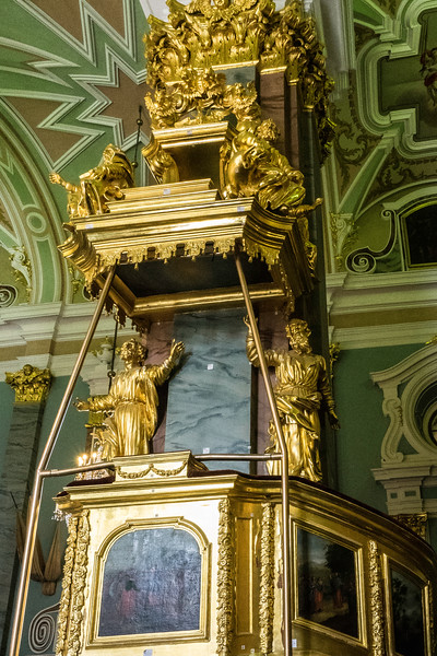 Fortress Cathedral - St. Petersburg, Russia. Pulpit