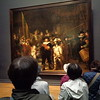 """Straz nocna"" Rembrandta. Bardzo trudno bylo przebic sie przez tlum, by zrobic zdjecie obrazu.<br /> <br /> Rembrandt's ""Night Watch"". It was very hard to get through the crowd to snap this photo."