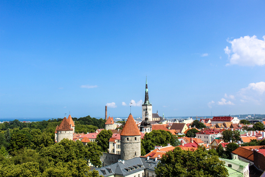 Tallinn's Old Town is a beautiful spot for any Europe backpacking route