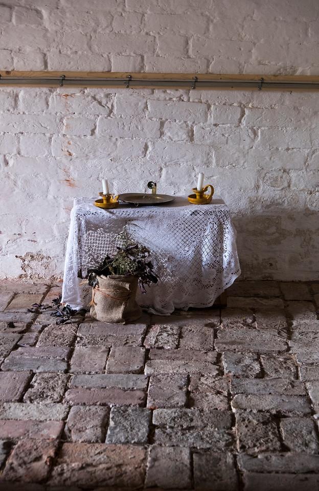 Little Table in Voergaard Castle Dungeon