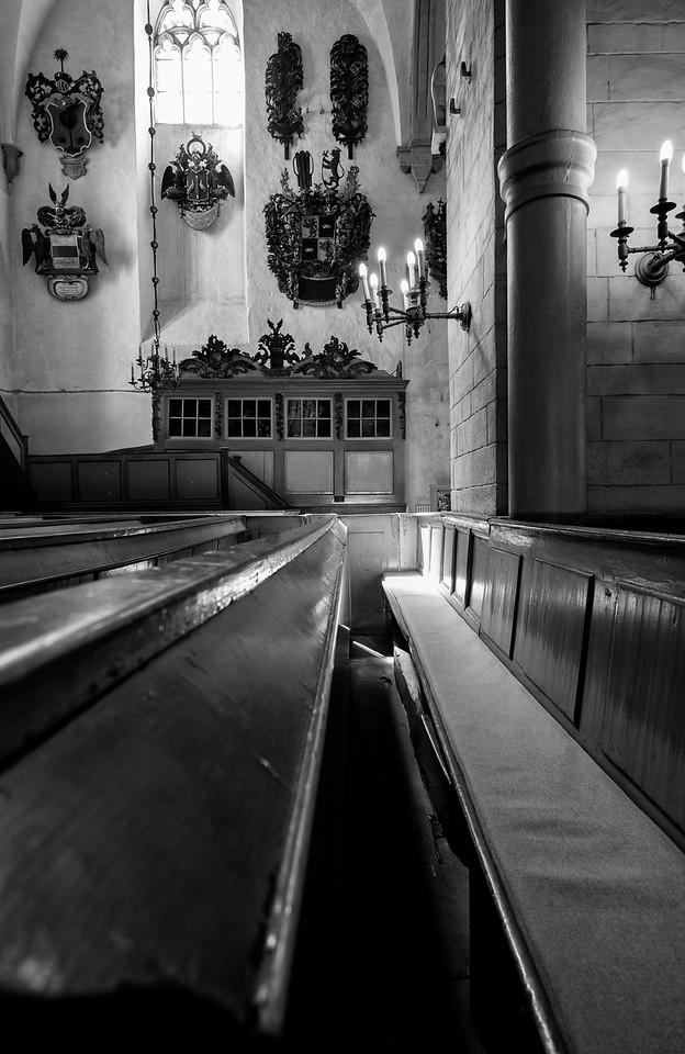 Toomkirik Church Pews (oldest church in Tallinn - 14th century)