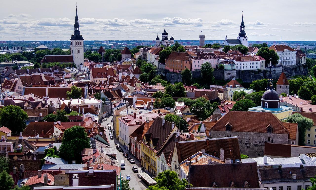 View of Tallinn from St Olaf's Church