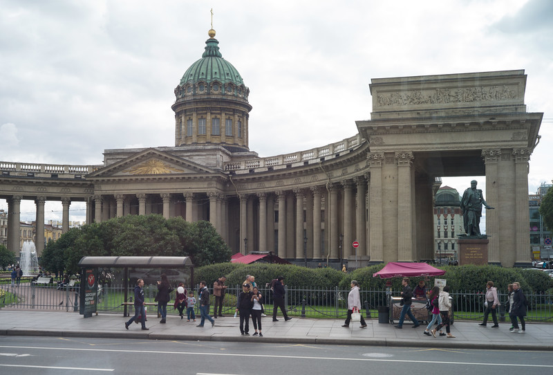 St. Petersburg. from the bus