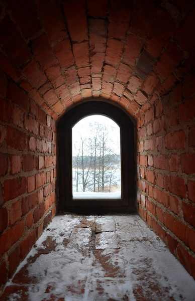 Window at Trakai Island Castle. 2018.
