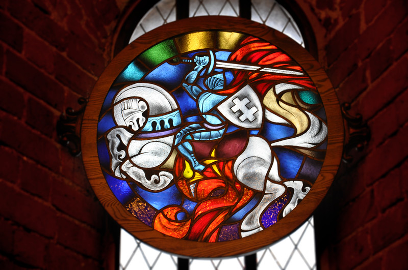 Stained Glass at Trakai Island Castle. 2018.