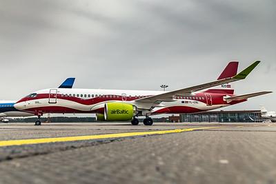 Air Baltic Airbus A220-300 YL-CSL 8-21-19 6