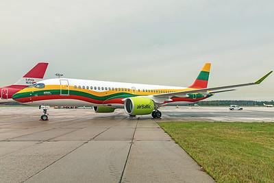 Air Baltic Airbus A220-300 YL-CSK 8-21-19 3