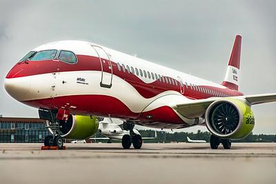 Air Baltic Airbus A220-300 YL-CSL 8-21-19 5