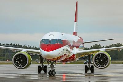 Air Baltic Airbus A220-300 YL-CSL 8-21-19 2