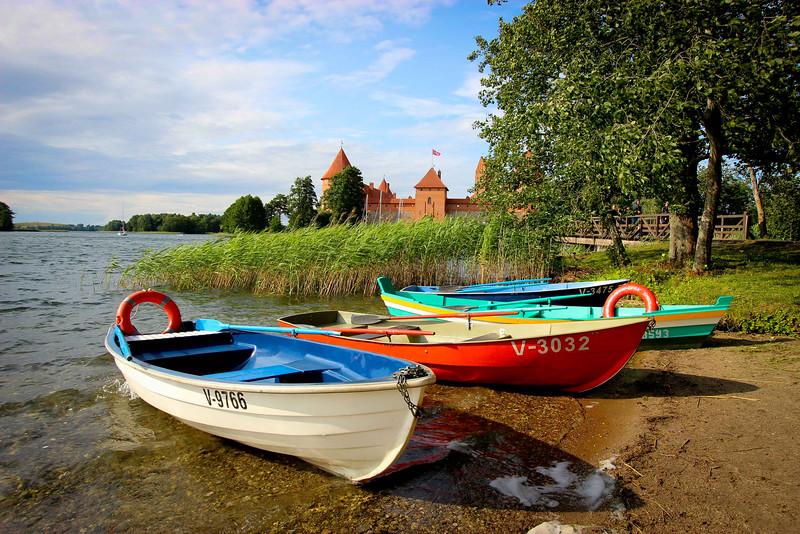 """Row"" - Trakai Island Castle, Lithuania"