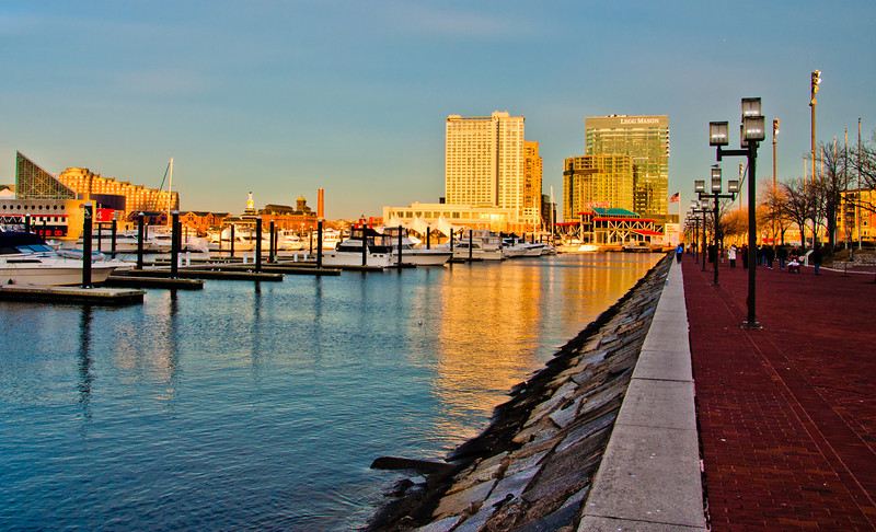 Along the water at the Inner Harbor, Baltimore, Maryland