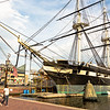 USS Constellation docked in Baltimore