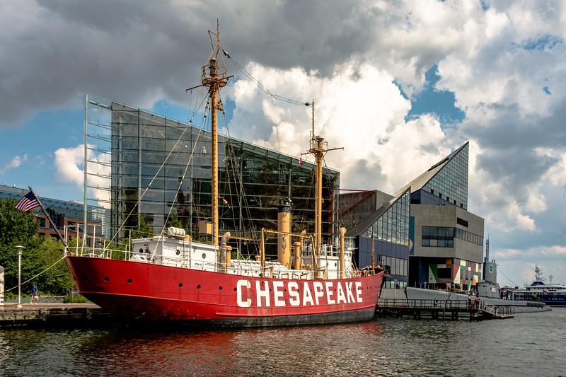 U.S. Lightship Chesapeake docked in front of the National Aquarium