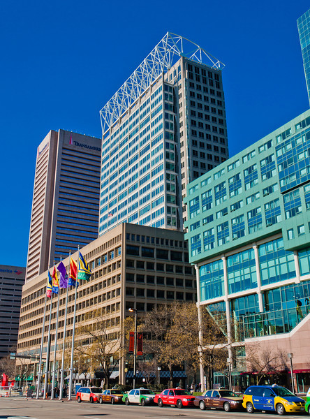 Buildings on Pratt Street, Baltimore, Maryland