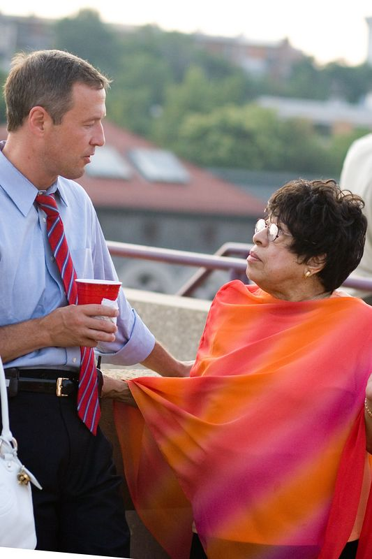 Baltimore's Mayor Martin O'Malley chatting at Artscape 2005