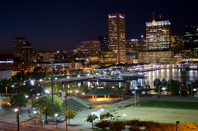 Inner Harbor from atop Federal Hill ...... wow.