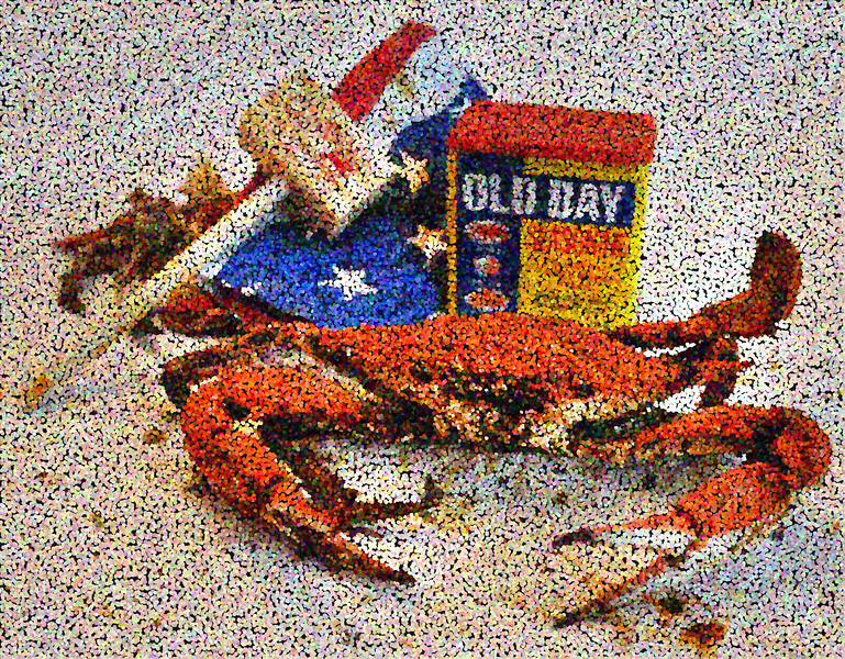 Georges Seurat Enjoys Maryland Crabs. 2012.