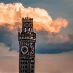 BromoSeltzer Arts Tower Evening in Baltimore, Maryland