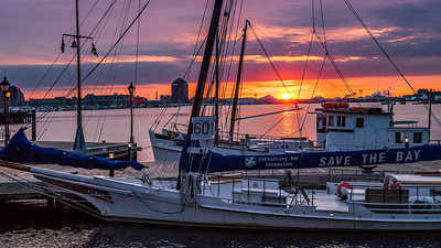 Sunrise from Harbor Point, Baltimore, Maryland
