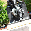 Edgar Allan Poe Statue, a well known author and poet. 1809-1849.