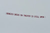 lots of aircraft-towed advertising all race weekend