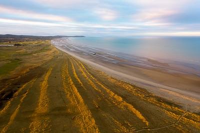 Aerial view, Baltray coastline