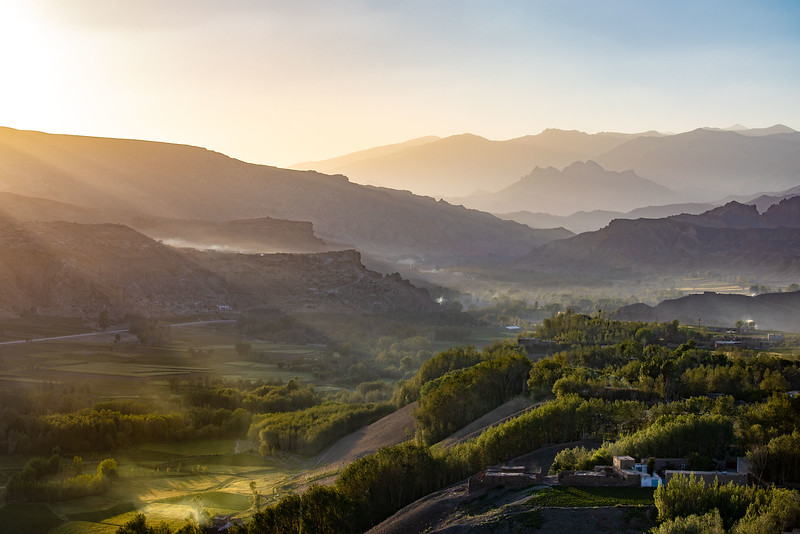 Early morning view from Shahr-e Gholghola (City of Screams), Bamyan.