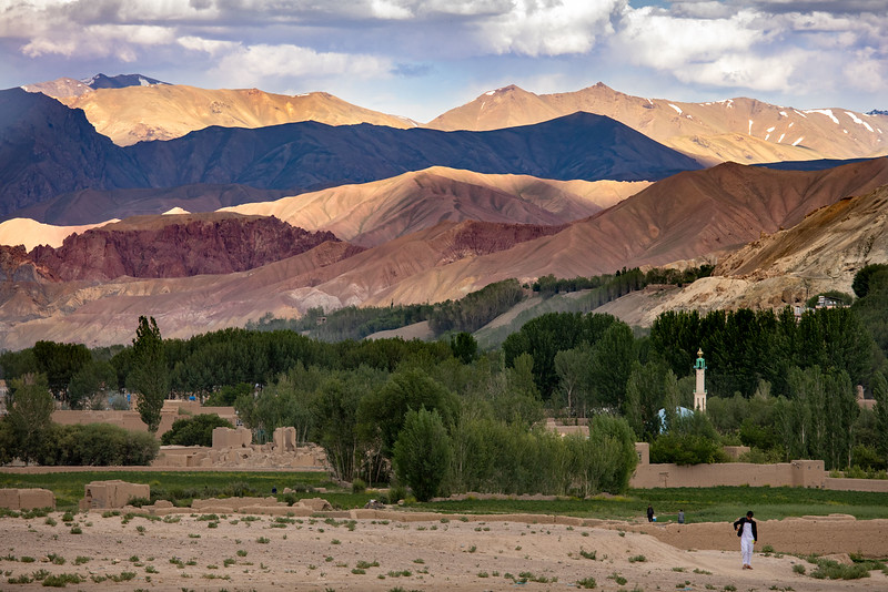 Bamyan view in the evening.