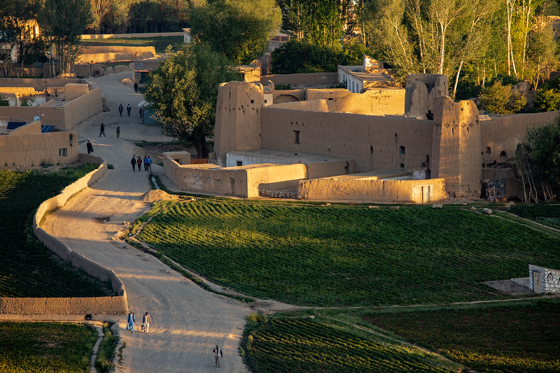 Bamyan view in the early morning.