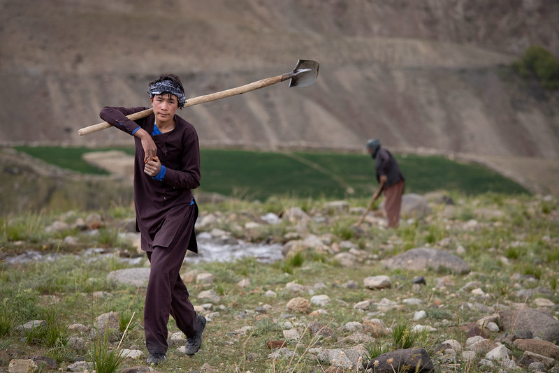 Foladi valley farmers (near Bamyan).