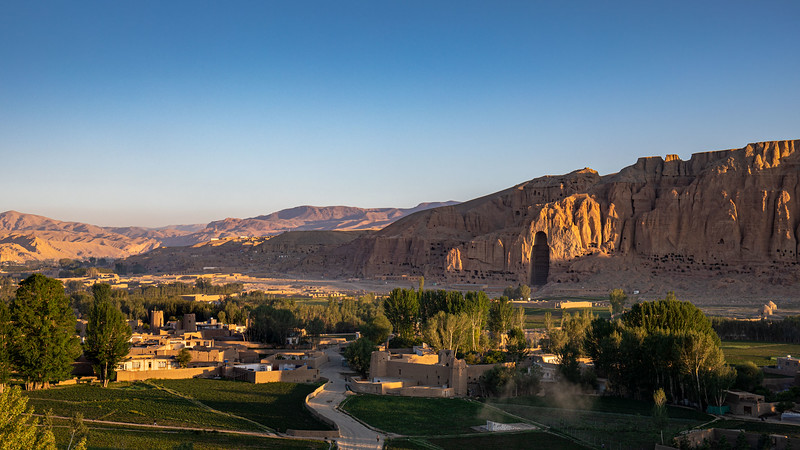 One of the two main Buddha caves in Bamyan.