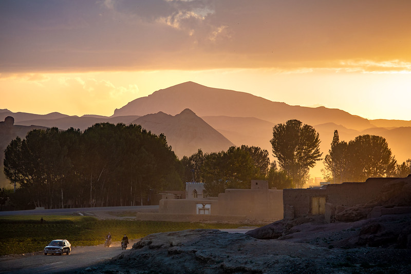 Going home in the evening, near the Sang-Chaspan area in Bamyan.