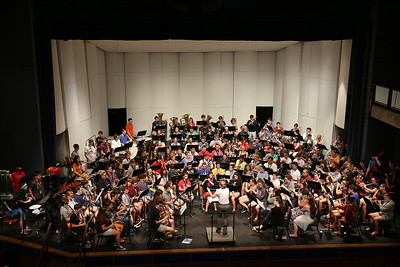 More than 100 middle and high school students from across the Northeast are exploreing their musical talents during the 20th annual Mary Jo Leahey Symphonic Band Camp at UMass Lowell this Summer.  They will have a performance at the university on July 23, 2016. A few locals from around Lowell area are participating in the camp. SUN/JOHN LOVE