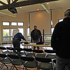 """....The early crew setting up the worship room..."""