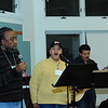 """....The worship team practicing in preparation for a great weekend of...well, music and worship...."""""""