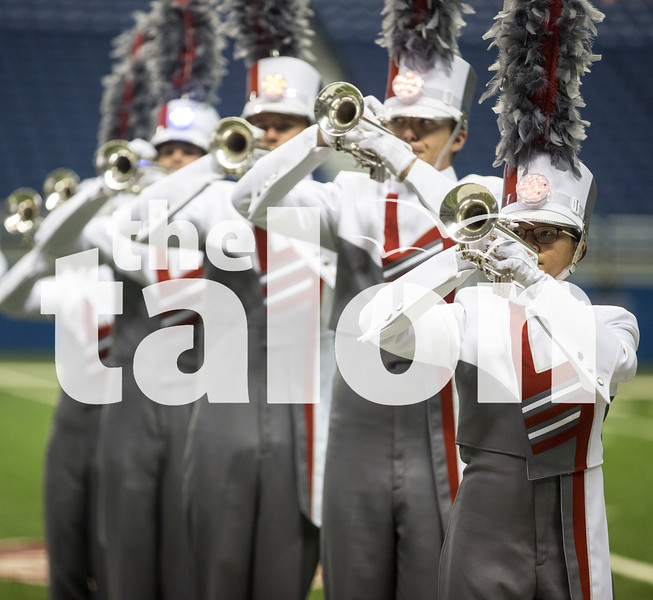The marching band competes at the UIL State Competition in the 4A Division at the Alamodome, San Antonio TX on Nov. 7, 2016. (GiGi Robertson/ The Talon News)