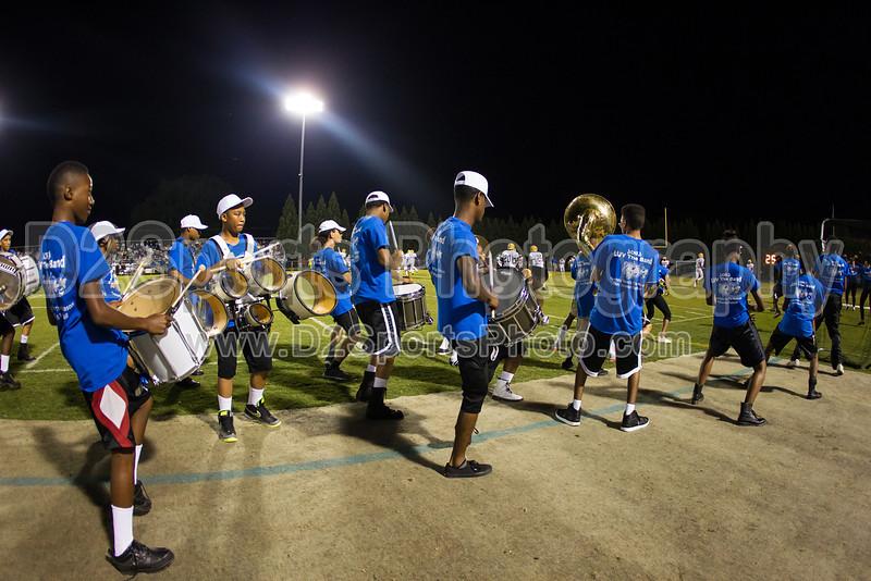 Mt Tabor and Carver Bands<br /> Mt Tabor Spartans vs Carver Yellow Jackets Varsity Football Game<br /> Friday, September 06, 2013 at Mt Tabor High School<br /> Winston-Salem, North Carolina<br /> (file 205813_BV0H5729_1D4)