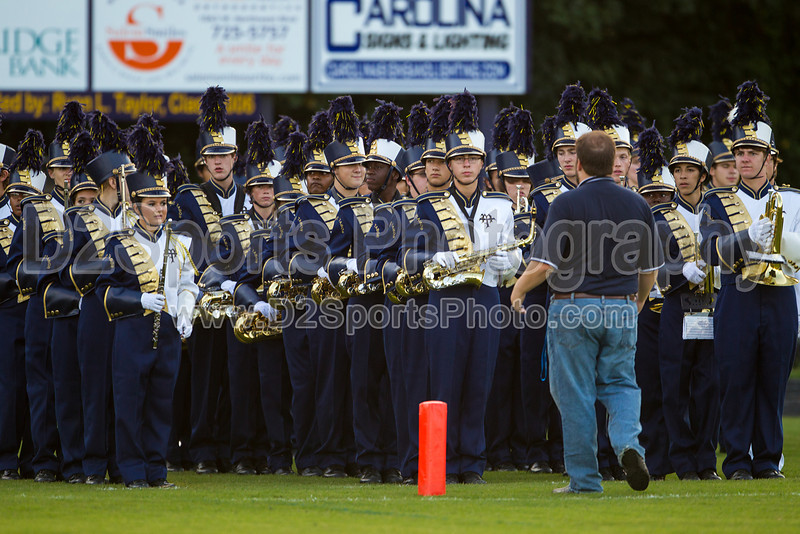 Mt Tabor and Carver Bands<br /> Mt Tabor Spartans vs Carver Yellow Jackets Varsity Football Game<br /> Friday, September 06, 2013 at Mt Tabor High School<br /> Winston-Salem, North Carolina<br /> (file 191013_BV0H5186_1D4)