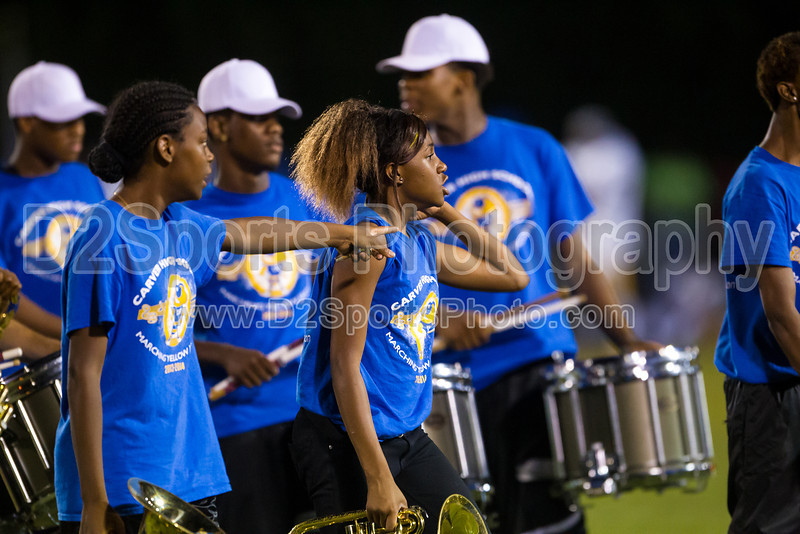 Mt Tabor and Carver Bands<br /> Mt Tabor Spartans vs Carver Yellow Jackets Varsity Football Game<br /> Friday, September 06, 2013 at Mt Tabor High School<br /> Winston-Salem, North Carolina<br /> (file 204726_BV0H5635_1D4)