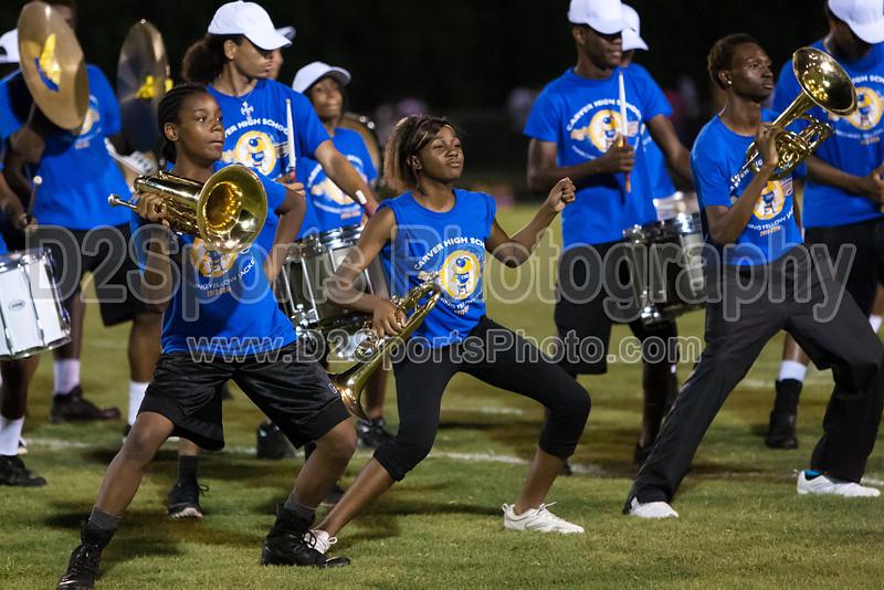 Mt Tabor and Carver Bands<br /> Mt Tabor Spartans vs Carver Yellow Jackets Varsity Football Game<br /> Friday, September 06, 2013 at Mt Tabor High School<br /> Winston-Salem, North Carolina<br /> (file 204359_803Q5062_1D3)
