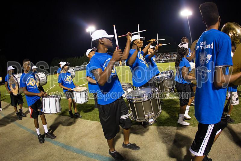 Mt Tabor and Carver Bands<br /> Mt Tabor Spartans vs Carver Yellow Jackets Varsity Football Game<br /> Friday, September 06, 2013 at Mt Tabor High School<br /> Winston-Salem, North Carolina<br /> (file 205756_BV0H5722_1D4)