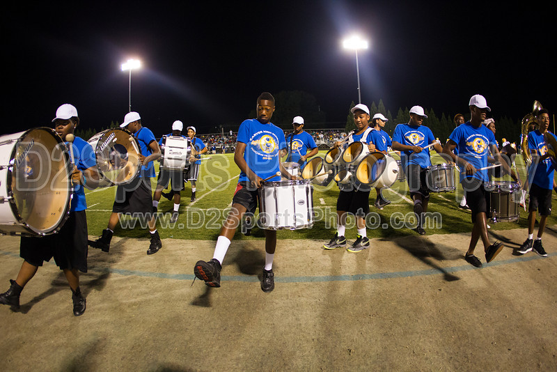Mt Tabor and Carver Bands<br /> Mt Tabor Spartans vs Carver Yellow Jackets Varsity Football Game<br /> Friday, September 06, 2013 at Mt Tabor High School<br /> Winston-Salem, North Carolina<br /> (file 205808_BV0H5724_1D4)