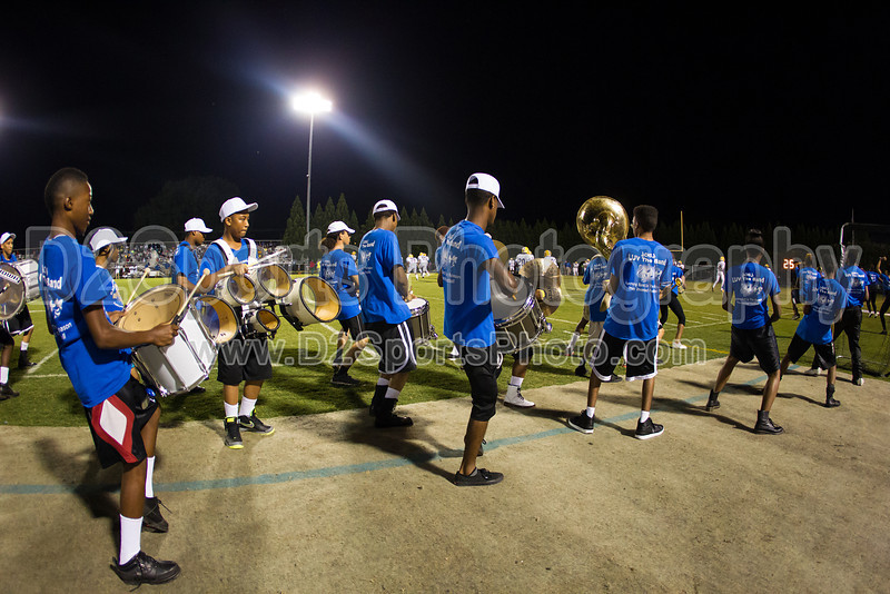 Mt Tabor and Carver Bands<br /> Mt Tabor Spartans vs Carver Yellow Jackets Varsity Football Game<br /> Friday, September 06, 2013 at Mt Tabor High School<br /> Winston-Salem, North Carolina<br /> (file 205813_BV0H5730_1D4)