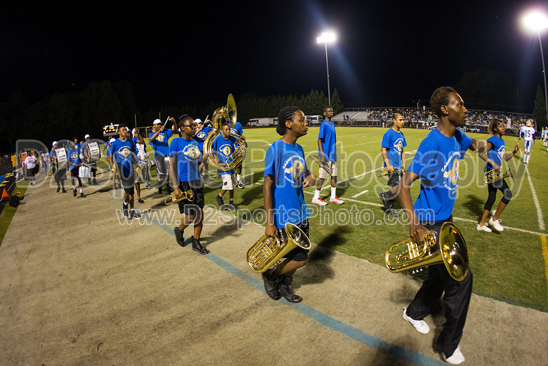 Mt Tabor and Carver Bands<br /> Mt Tabor Spartans vs Carver Yellow Jackets Varsity Football Game<br /> Friday, September 06, 2013 at Mt Tabor High School<br /> Winston-Salem, North Carolina<br /> (file 205748_BV0H5718_1D4)