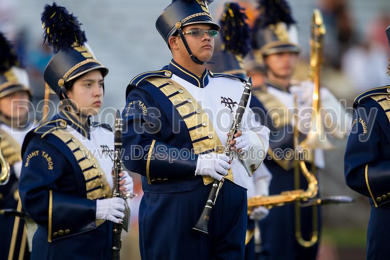 Mt Tabor and Carver Bands<br /> Mt Tabor Spartans vs Carver Yellow Jackets Varsity Football Game<br /> Friday, September 06, 2013 at Mt Tabor High School<br /> Winston-Salem, North Carolina<br /> (file 191414_BV0H5208_1D4)