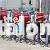 The drumline competes at the Plano Drumline contest on September 21, 2019. (Trinity Flaten / The Talon News)