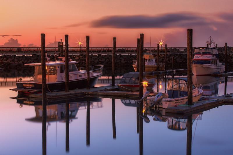 Nightfall in the Marina