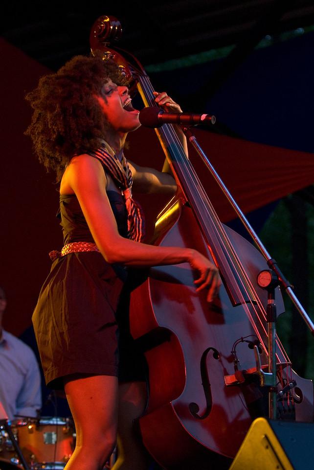 Esperanza Spaulding-2009 Twin Cites Jazz Festival-Mears Park, St. Paul MN---Mus-8001